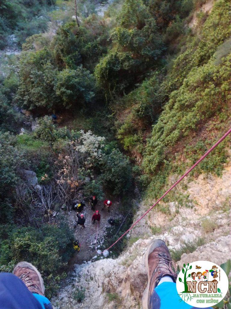 Rápel del Barranco Villa de la Nao o del Pas Tancat